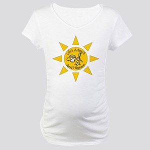 Sand Happens Standard Design Maternity T-Shirt