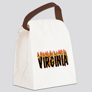 Virginia Flame Canvas Lunch Bag