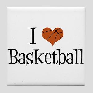 I Heart Basketball Tile Coaster