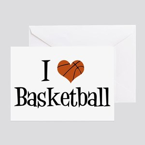 I Heart Basketball Greeting Card