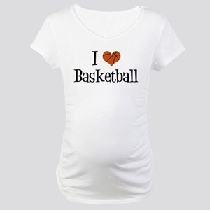 I Heart Basketball Maternity T-Shirt