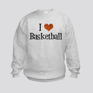 I Heart Basketball Kids Sweatshirt