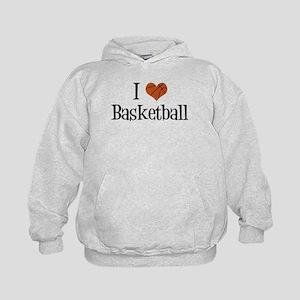 I Heart Basketball Kids Hoodie