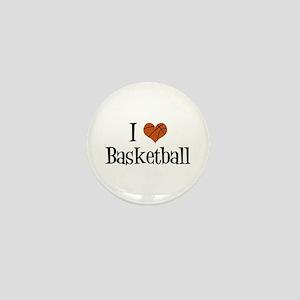 I Heart Basketball Mini Button