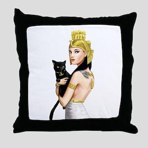 Cleopatra Throw Pillow
