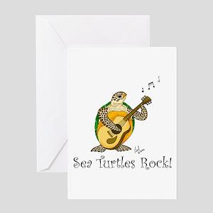 Sea Turtles Rock Greeting Card