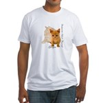 Ginger Cat Kitten Fitted T-Shirt