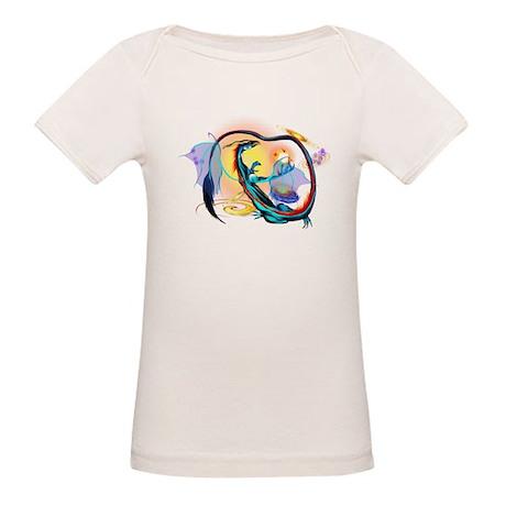 Blue Galaxy Dragon Organic Baby T-Shirt