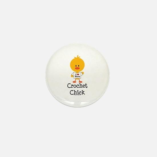 Crochet Chick Mini Button