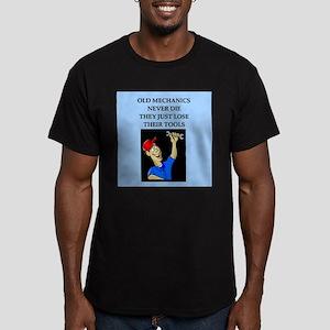 old mechanics never die Men's Fitted T-Shirt (dark