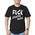 Fuck Country Music Men's Fitted T-Shirt (dark)