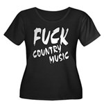 Fuck Country Music Women's Plus Size Scoop Neck Da