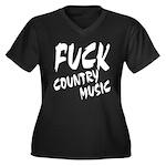 Fuck Country Music Women's Plus Size V-Neck Dark T