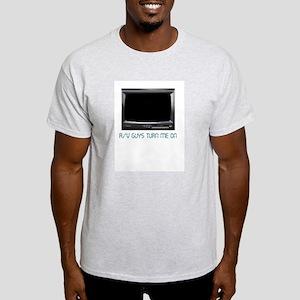 AV Guys Turn Me On Ash Grey T-Shirt