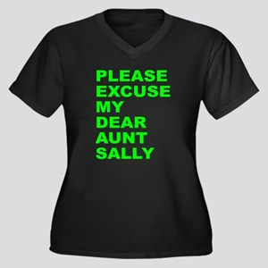 Please excuse my dear aunt sa Women's Plus Size V-