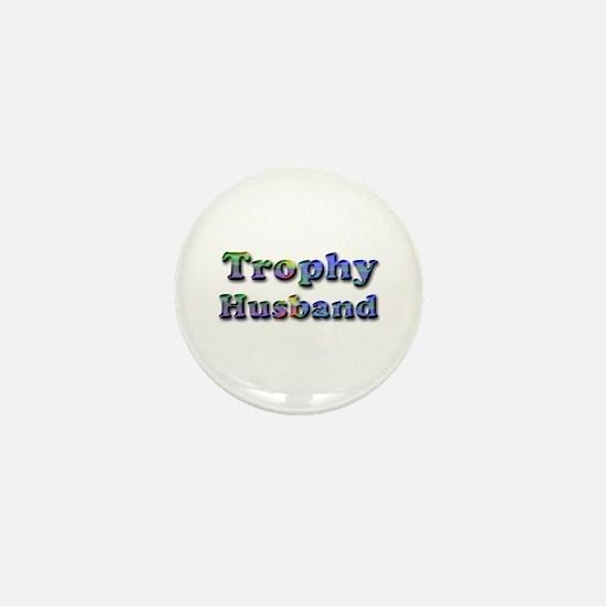 Unique Trophy husband Mini Button