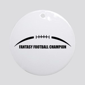 Fantasy Football Champion Ornament (Round)