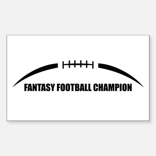 Fantasy Football Champion Sticker (Rectangle)
