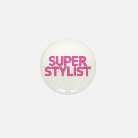 Super Stylist - Pink Mini Button