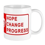 No: Hope, Change, Progress Mug