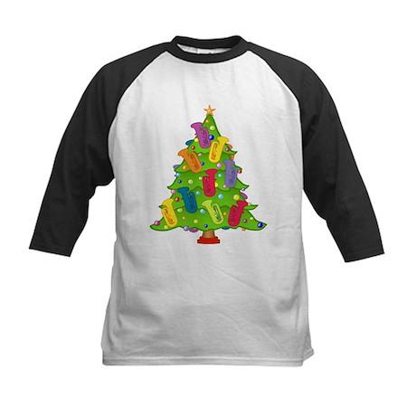 Tuba Christmas Kids Baseball Jersey