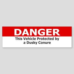 Danger Dusky Conure Bumper Sticker
