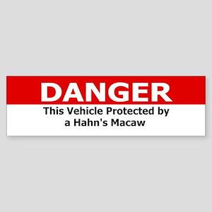 Danger Hahn's Macaw Bumper Sticker