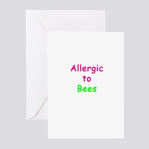 Allergic To Bees Greeting Cards (Pk of 10)