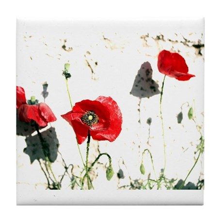 Poppies Tile Coaster