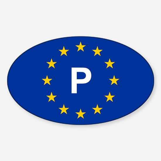 EU Portugal Sticker (Oval)