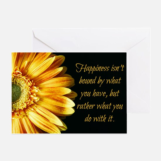 Happiness: Sunflower Greeting Cards