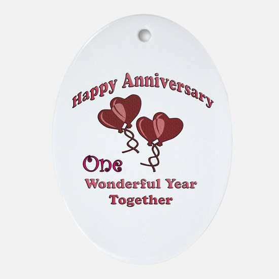 Wedding favors Oval Ornament