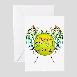 Tribal softball Greeting Cards (Pk of 10)