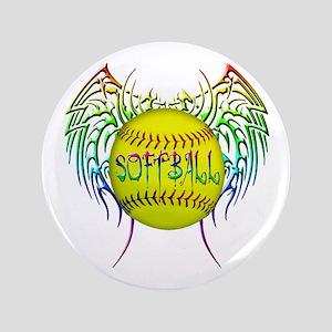 "Tribal softball 3.5"" Button"