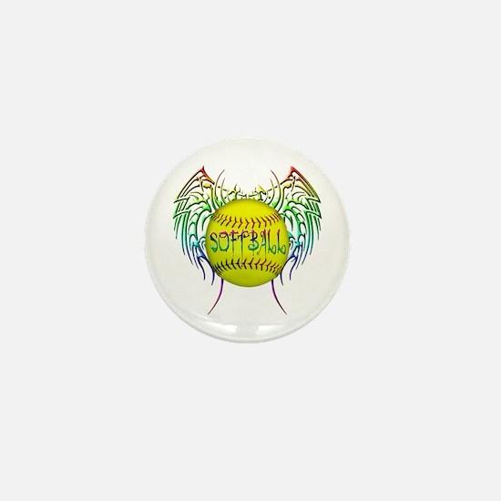 Tribal softball Mini Button