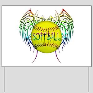 Tribal softball Yard Sign