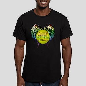 Tribal softball Men's Fitted T-Shirt (dark)