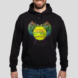 Tribal softball Hoodie (dark)
