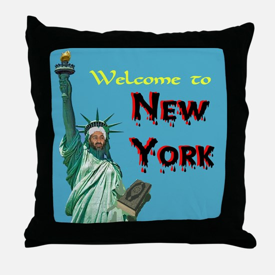 UNWELCOME MOSQUE Throw Pillow