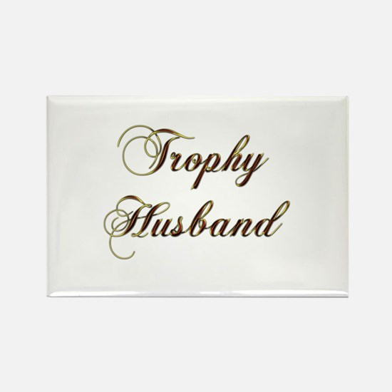 Trophy husband gold Magnets