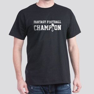 Fantasy Football Champion w/ Trophy Dark T-Shirt