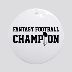 Fantasy Football Champion w/ Trophy Ornament (Roun