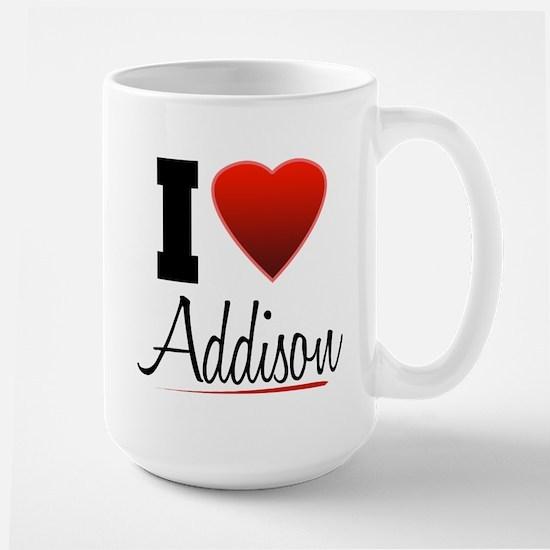 I Heart Addison Large Mug