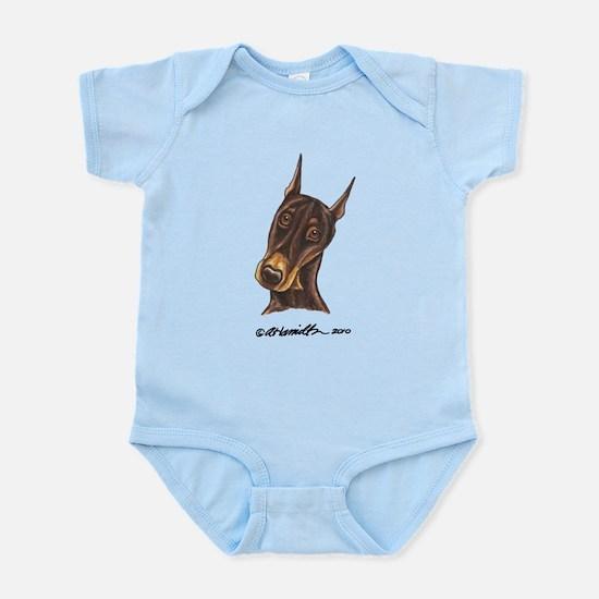 Red Rust Doberman Pinscher Infant Bodysuit