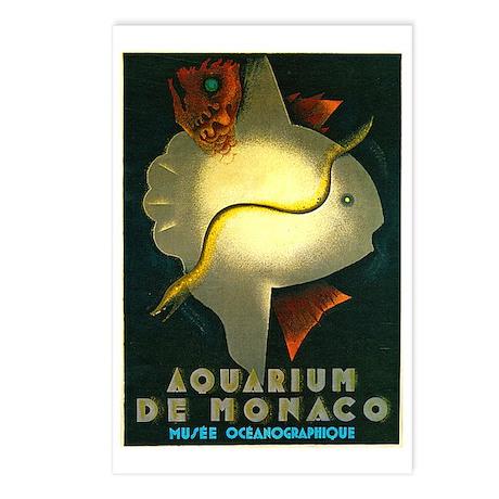 Aquarium De Monaco Fish Postcards (Package of 8)