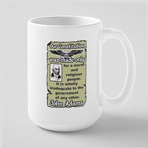 """Adams: Our Constitution"" Large Mug"