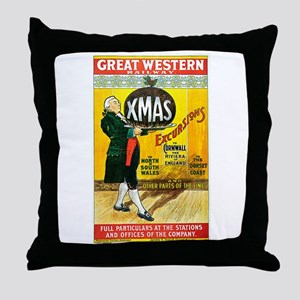 Vintage Great Western Railway Throw Pillow