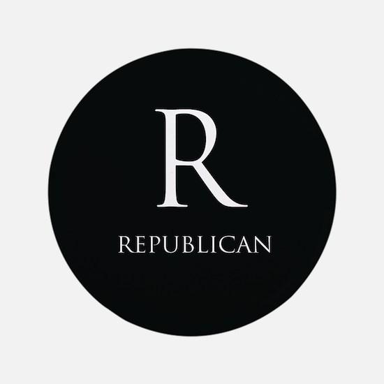 """R Republican 3.5"""" Button"""