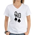 Qs10s Poker Women's V-Neck T-Shirt