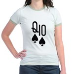 Qs10s Poker Jr. Ringer T-Shirt